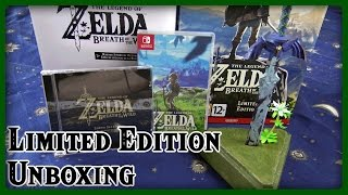 THE LEGEND OF ZELDA BREATH OF THE WILD EUROPA LIMITED EDITION UNBOXING IN 4K