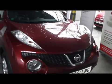 VE61LMO Nissan Juke Tekna in Red at Wessex Garages, Gloucester