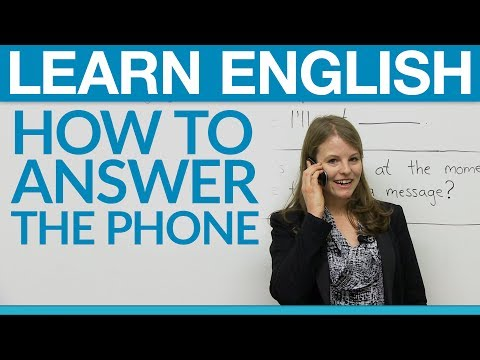 Speaking English How to answer the phone