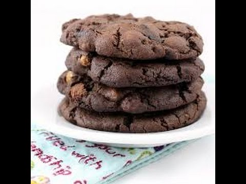 how to make double chocolate chip cookies from scratch