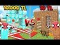 10 TL FAKİR TUZAKLI EV VS 10.000 TL ZENGİN TUZAKLI EV! 😱 - Minecraft