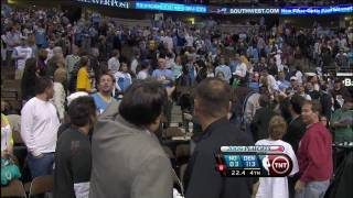 Denver Fan Throws Beer Bottle Onto the Court  [HD]
