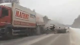 Russian Car crash compilation January ✦ Russian Car crashes ✦ week 1