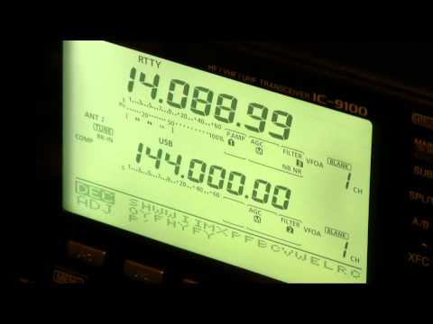 Icom IC-9100 RTTY Decoder Demonstration