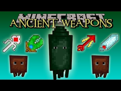 ANCIENT WEAPONS MOD - Armas Ancestrales. THE KRAKEN BOSS - Minecraft 1.7.2 review completa español