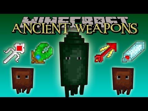 ANCIENT WEAPONS MOD - Armas Ancestrales. THE KRAKEN BOSS - Minecraft 1.7.2 review completa español