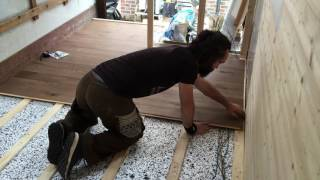 Fitting oak floor in our Luton van conversion