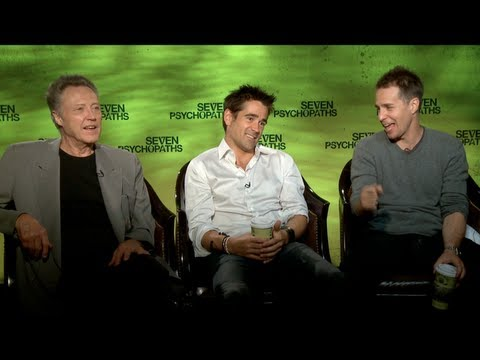 SEVEN PSYCHOPATHS Interview: Colin Farrell, Sam Rockwell and Christopher Walken