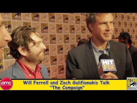 Will Ferrell and Zach Galifianakis Talk The Campaign At Comic Con 2012