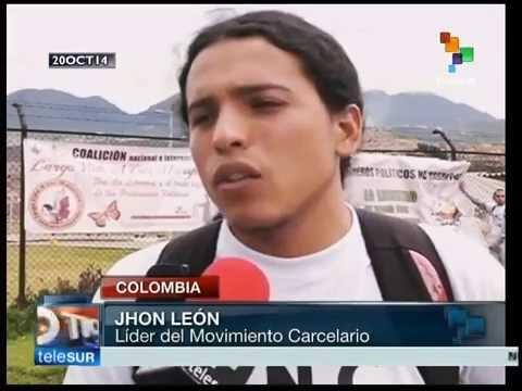Presos colombianos realizan jornada de protesta por crisis carcelaria.