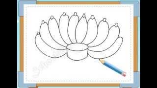 BÉ HỌA SĨ - Thực hành tập vẽ 120: Vẽ nải chuối