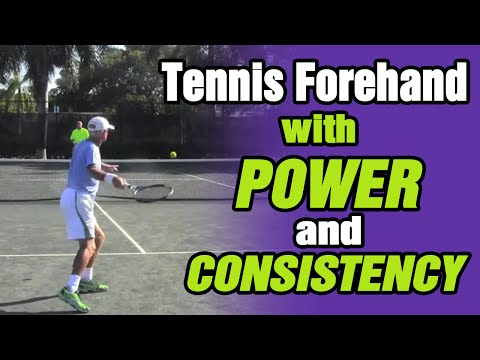 How To Hit Tennis Forehand With Power And Consistency - TomAveryTennis.com