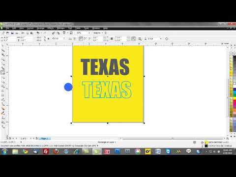 Corel draw x5 tutorial: Working with outlines