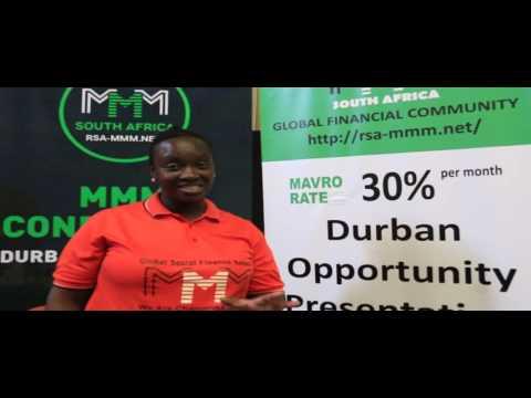 Manager Nunu Hlengwa (Umlazi - KZN) - MMM RSA post-DURBAN RALLY