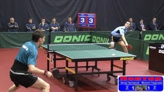 Artur GRIGORYEV vs Mikhail GLADYSHEV 1/8 Russian Premier League Playoff Table Tennis