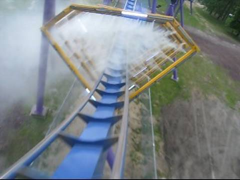 Bizarro Front Seat on-ride POV Six Flags Great Adventure