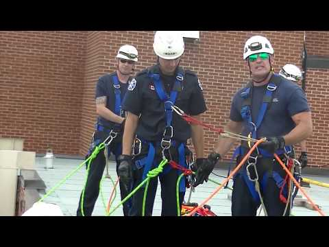 HGH ANGLE ROPE RESCUE BASKET EDGE TRANSITION WITHOUT AHD