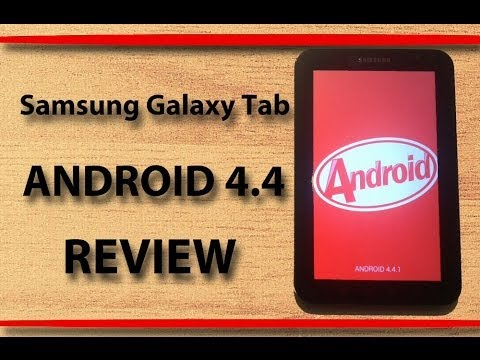 Samsung Galaxy Tab p1000 running Android 4.4 KitKat First Official CM Rom REVIEW