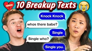 TEENS READ 10 BREAKUP TEXTS (React)