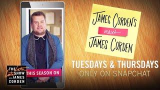 SNEAK PEEK: James Corden's New Snapchat Show