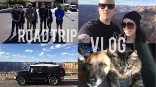 Road Trip Vlog Virginia to California, Tornado, Breaking Bad, Grand Canyon | lesleydoesmakeup