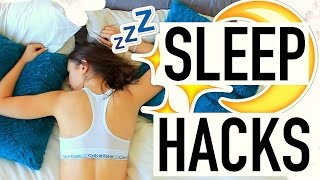 10 SLEEP HACKS! How To Fall Asleep Fast!