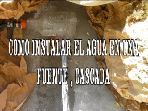 Como instalar agua para una cascada youtube for Cascada de agua para jardin