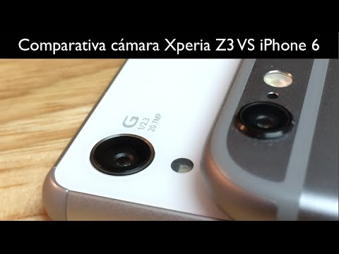 Comparativa cámara Sony Xperia Z3 VS iPhone 6