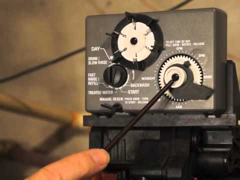 How To Set A Control Timer On A Water Conditioner