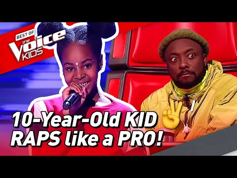 10-Year-Old RAPS like a real PRO in The Voice Kids