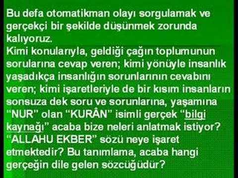 """Ahmed Hulûsi KURÂN MUCİZESİ """"EKBER""""İYET / 3.Bölüm"""
