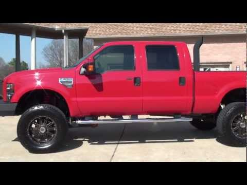 HD VIDEO 2008 FORD F250 LARIAT CREW CAB 4X4 LIFTED EDGE USED FOR SALE SEE WWW.SUNSETMILAN.COM