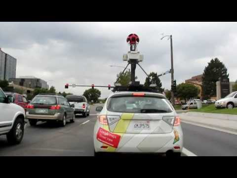 Google maps street view vehicle on the road alongside me!