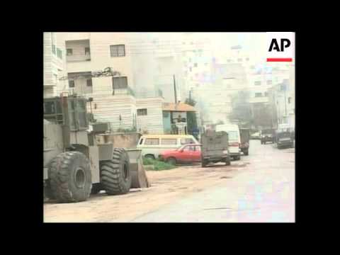 WRAP Israeli raid in Nablus continues ADDS more tear gas, clashes