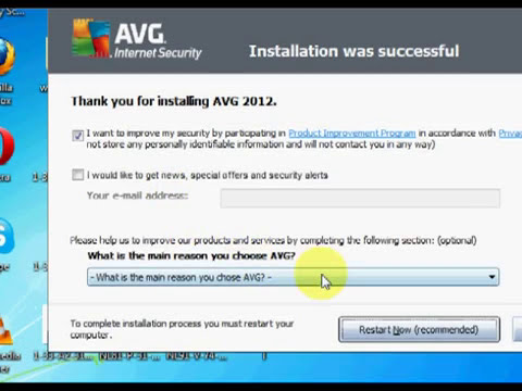 AVG Free 2012 download and installation