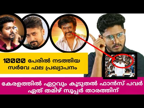 VIJAY OR SURYA NO 1 FANS POWER KERALA
