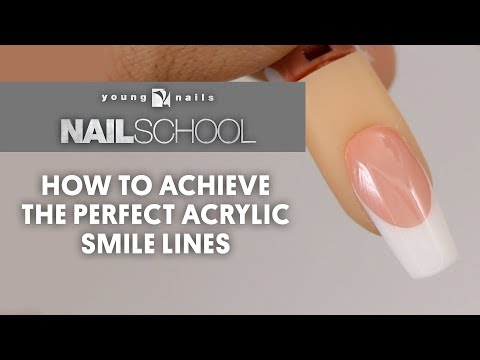 YN NAIL SCHOOL - HOW TO ACHIEVE THE PERFECT ACRYLIC SMILE LINES