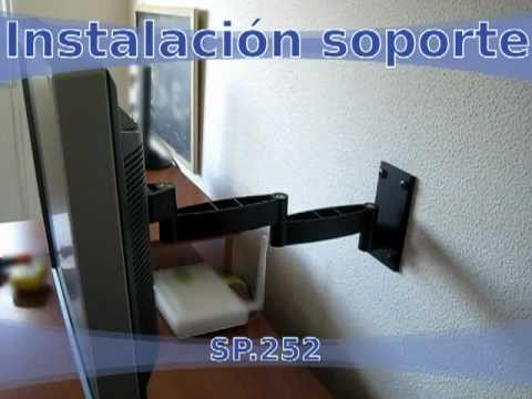 Instalar soporte tv led lcd doble brazo articulado de - Soporte pared tv sin tornillos ...
