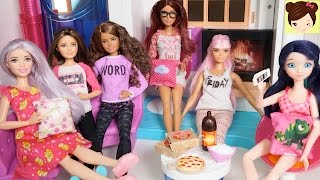 Pijamada de Skipper en Casa Barbie Hello DreamHouse - con Marinette Alya y Barbie Fashionistas