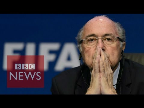 Moment Sepp Blatter announced his resignation as Fifa president - BBC News