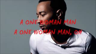 Watch John Legend One Woman Man video