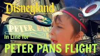 DISNEYLAND ADVENTURES: IN LINE FOR PETER PANS FLIGHT