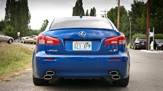 Best Lexus IS-F exhaust sound complation - revs and accelerations, tunnel run.