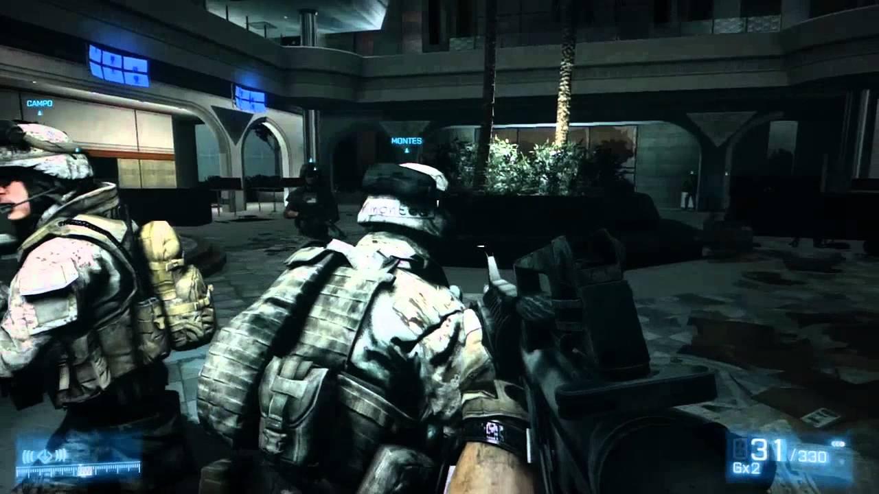 Battlefield 3: Walkthrough - Part 7 [Mission 5: Bank Plaza ...