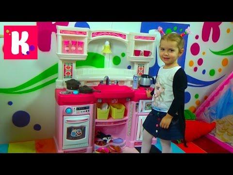 Кухня для девочек с приборами / Распаковка и Обзор