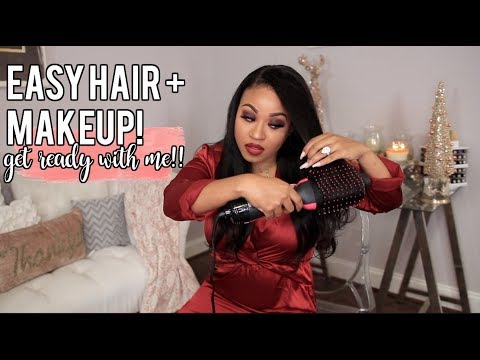 Last Minute Holiday Get Ready With Me   Makeup + Hair!