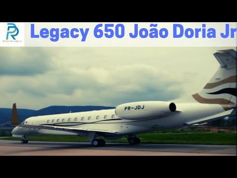Decolagem Embraer Legacy 650 Take-off SBJD [Full HD 1080p]