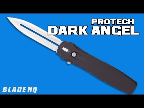 Protech Dark Angel OTF Automatic Knife Black Handle