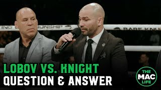 Artem Lobov vs.Jason Knight 2 Made Official | Question & Answer