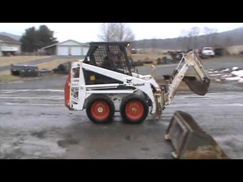 Bobcat 543 Skid Steer Loader With Bobcat 905B Backhoe Attachment Kubota Diesel For Sale